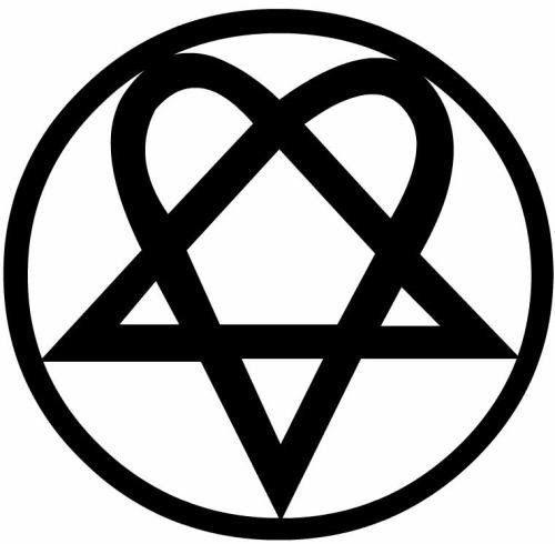 "6"" Him Heartagram Sticker, Decal, Music Car Band Laptop iPhone Truck Window Fun"