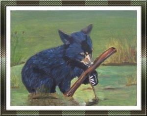 Bear Cub Painting