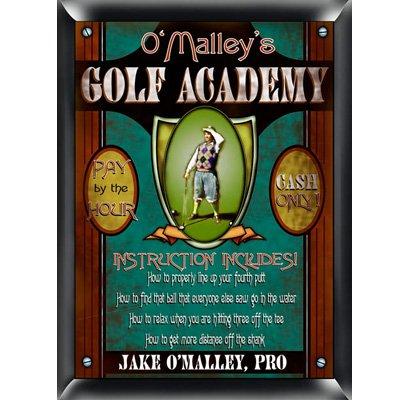Golf Academy Plaque