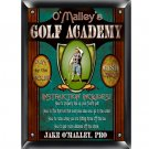 Golf Academy Plaque