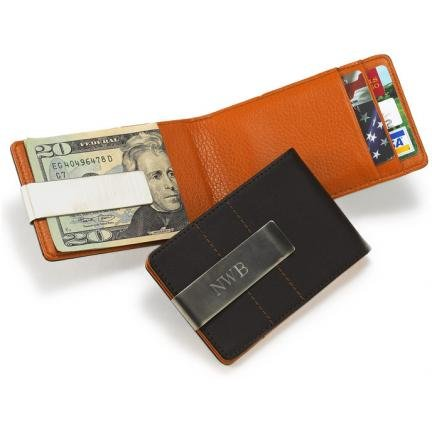 Metro Leather Wallet Money Clip