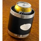 Black Leather Can Holder