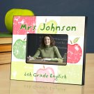 Patchwork Apples Personalized Teacher Picture Frame
