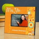 Sunshine & Flowers Personalized Teacher Picture Frame