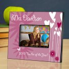 Hearts and Flowers Personalized Teacher Picture Frame