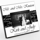 Mr and Mrs Personalized Wedding Photo Frame