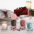 FavorLight Personalized Glass Votive Cup with Candle