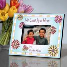 Mom in Flowers Personalized Photo Frame