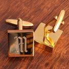 Brass Square Cuff Links