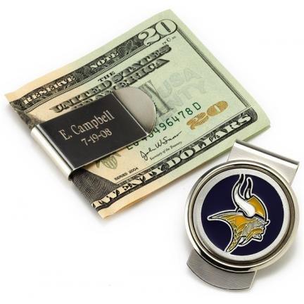 Personalized NFL Money Clip
