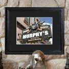 Personalized NHL Pub Print in Wood Frame
