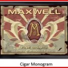 Personalized Traditional Pub Sign Cigar Monogram