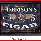 Personalized Traditional Pub Sign Cigar Patriot