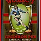 Personalized Traditional Pub Sign Gridiron