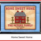 Personalized Traditional Pub Sign Home Sweet Home