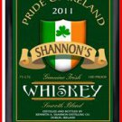 Personalized Traditional Pub Sign Irish Whiskey
