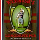 Personalized Traditional Pub Sign Longdrive