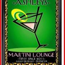 Personalized Traditional Pub Sign Martini Cosmo Chic