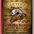 Personalized Traditional Pub Sign Saloon