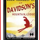 Personalized Traditional Pub Sign Ski Lodge