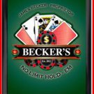 Personalized Traditional Pub Sign Texas Hold Em Poker
