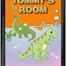 Personalized Childs Room Sign Dinosaur Crossing