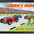 Personalized Childs Room Sign Racer