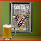 Traditional Sports Man Cave Pub Sign Billiards