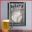 Traditional Sports Man Cave Pub Sign Baseball