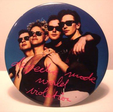 """Depeche Mode Large 6"""" Button Plaque"""