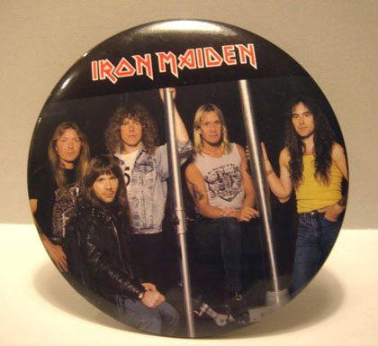 "Iron Maiden 6"" Button Plaque Band Portrait"
