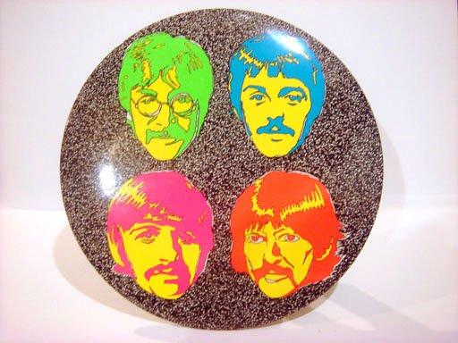 "Beatles 6"" Button Plaque Psychedelic Sgt. Pepper Era"