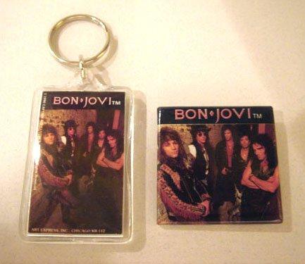 Bon Jovi Keychain with Matching Button (BJ-B)