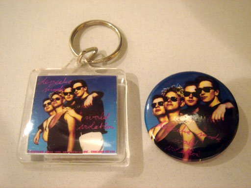 Depeche Mode Keychain with Matching Button