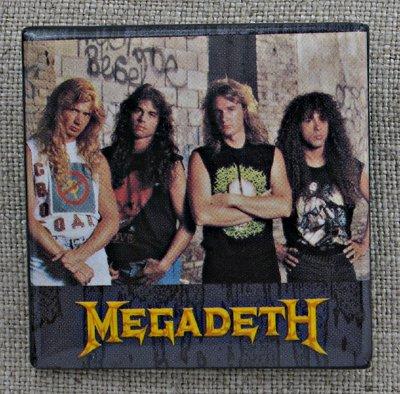 Megadeth Band Portrait Square Pin