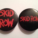 "Skid Row Lot of (2) Small 1.5"" Round Logo Pin-Back Buttons"