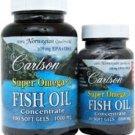 Carlson Super Omega-3 Fish Oils -- 130 Softgels