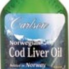 Carlson Norwegian Cod Liver Oil Lemon-16.8 fl oz