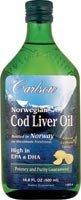 Carlson Norwegian Cod Liver Oil Lemon-16.8 fl oz