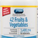 Vitacost 42 Fruits & Vegetables -- 1,400 mg per serving - 180 Capsules