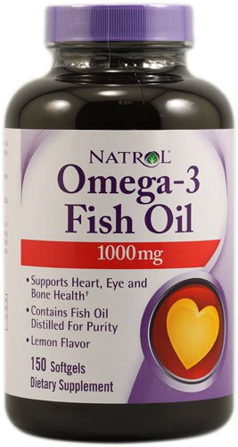 Omega-3 Fish Oil Lemon -- 1000 mg - 150 Softgels