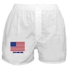 Personalized Men's Boxer US Flag S/M/L/XL