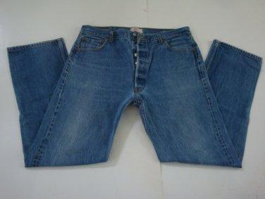 Levi's 501 Red Tab, Button Fly, Men's Cotton Denim Jeans - sz. 38 x 36