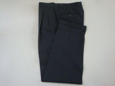 Jack Victor Men's Pleated  Medium Gray Dress Pants  - sz. 35 x 33