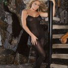 Opaque bodystocking with spaghetti straps. Open crotch. ..QUEEN