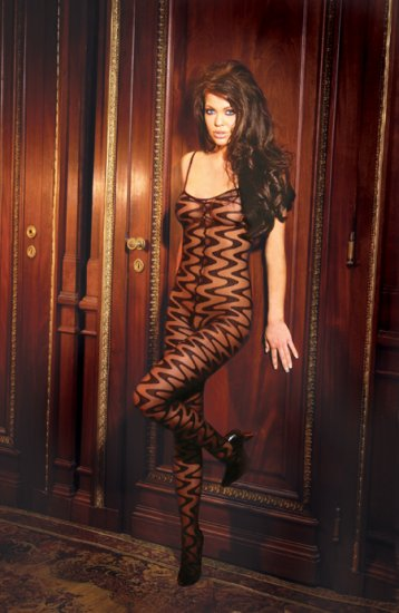 Wave bodystocking with open crotch.