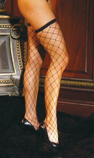 Big diamond net thigh hi.