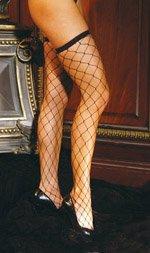 Big diamond net thigh hi................QUEEN