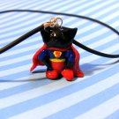 Supercat Comic Cat in Red Cape: black kitty