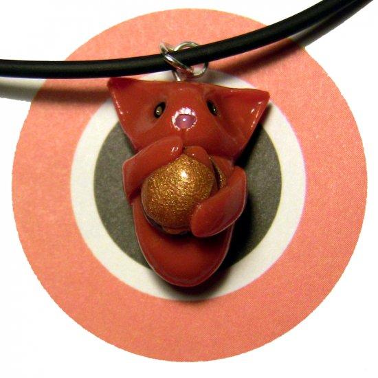 Cheezburger Kitty Ginger Orange Animini Necklace